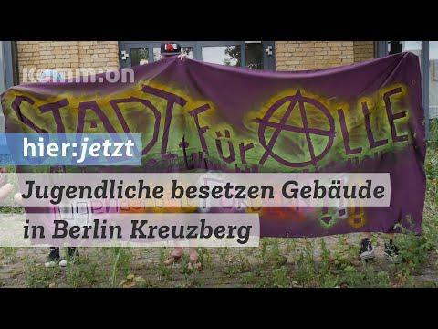 Jugendliche besetzen Gebäude in Berlin Kreuzberg