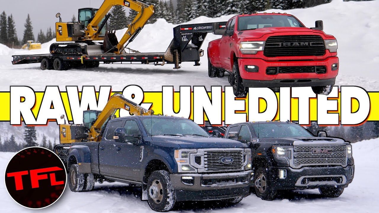 Download Cummins vs Duramax vs Power Stroke: All New 2020 HD Trucks Tow 30,000 lbs Up The Ike Gauntlet