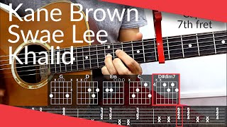 Download Lagu Be Like That Kane Brown Swae Lee Khalid Guitar Tutorial Tab Chords MP3