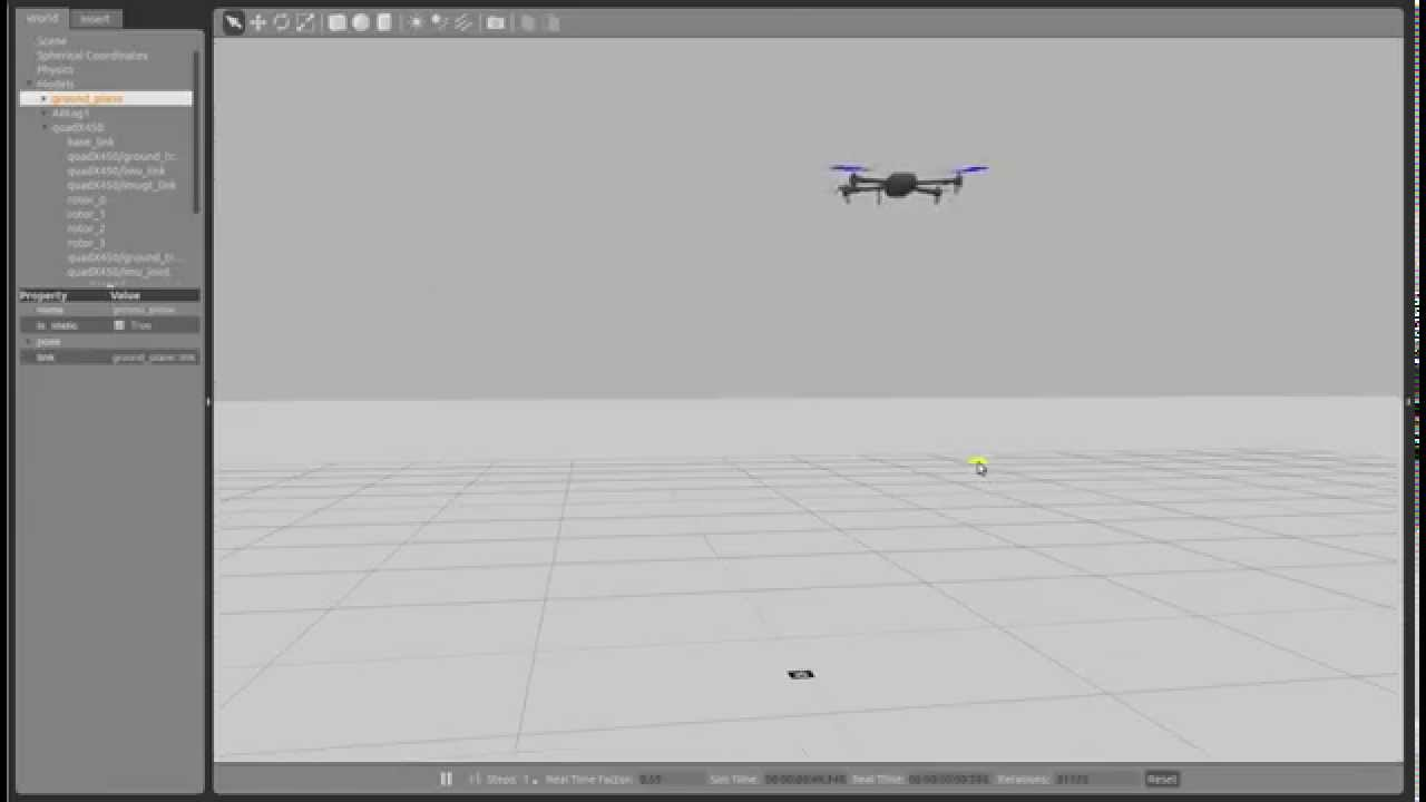 Example of simulation of ArduCopter SITL in ROS/Gazebo