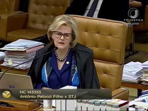 Pleno - Negada concessão de HC de ofício para ex-ministro Antonio Palocci