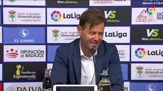 Rueda de prensa de Manuel tras el Extremadura UD vs Real Zaragoza (0-3)