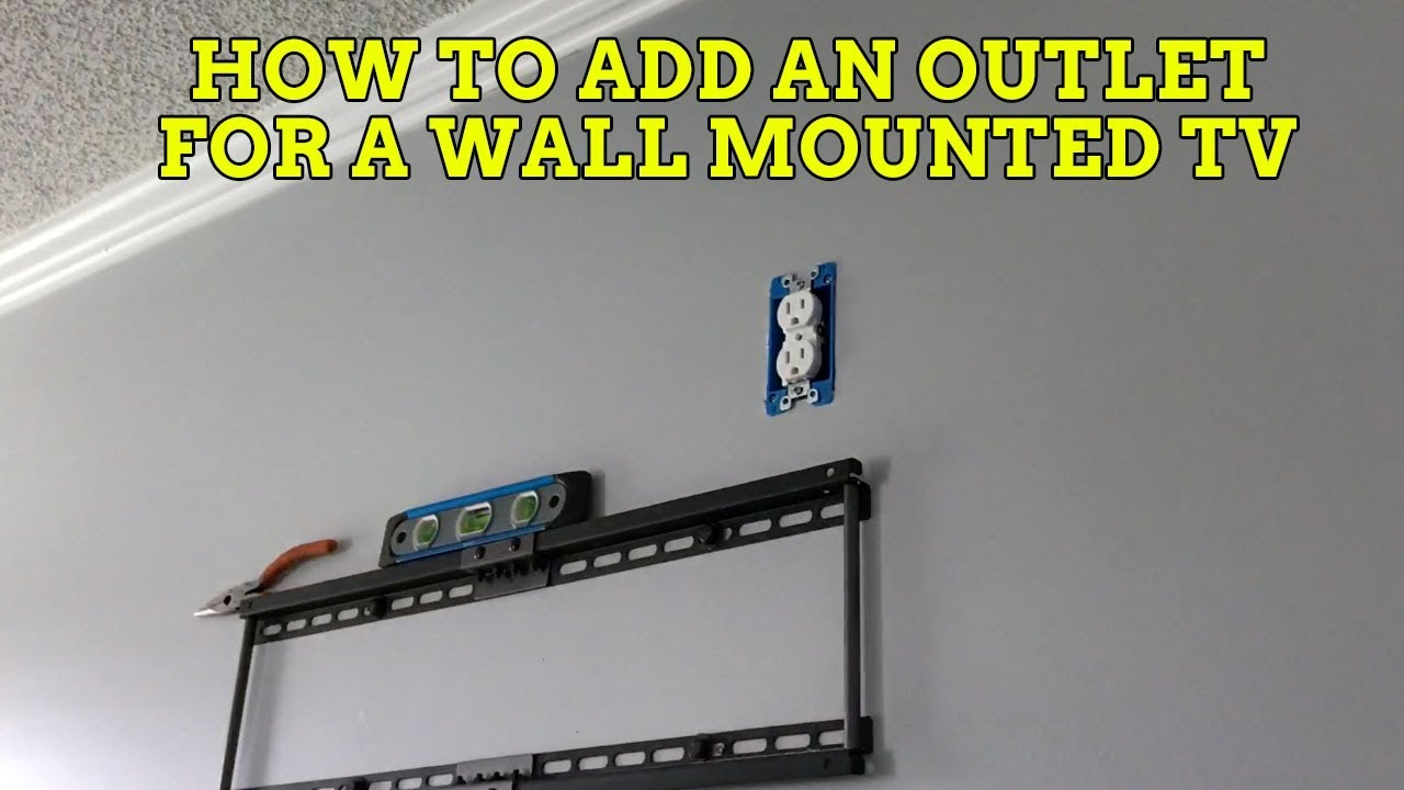 How to hide your tv wires for a wall mounted tv youtube for How to wall mount a tv