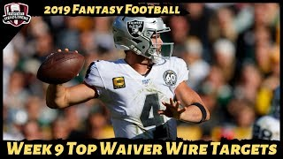 2019 Fantasy Football Rankings - Week 9 Top Waiver Wire Players To Target