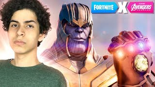 O THANOS ESTÁ DE VOLTA NO FORTNITE - Fortnite ( Thanos VS Avengers )