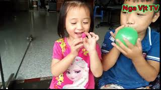 ĐỒ CHƠI TRẺ EM Vui Chơi Cùng Bóng Bay Nước Nga Vịt Tv Outdoor water balloons game