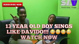 Meet 13year Old Boy Who Murdered Davido's IF Song (Fuji Version)| The Next Big Star