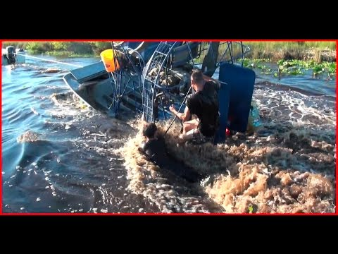 1 SUNK AIRBOAT! 2 DEAD GATORS!!!! DMFD