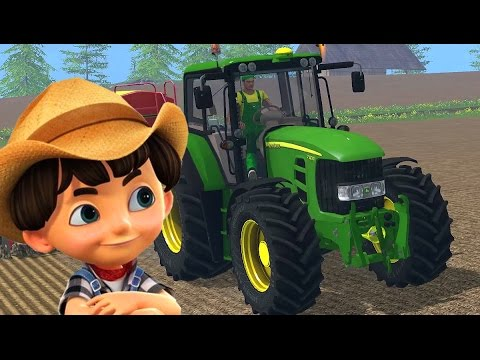 John Deere tractor - Tractor video for kids - Cartoon