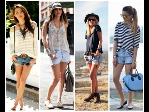 trendy women's shorts 2017 - YouTube