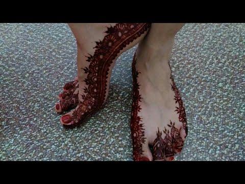 Tutorial Henna Simple Cantik Untuk Kaki Pengantin Henna