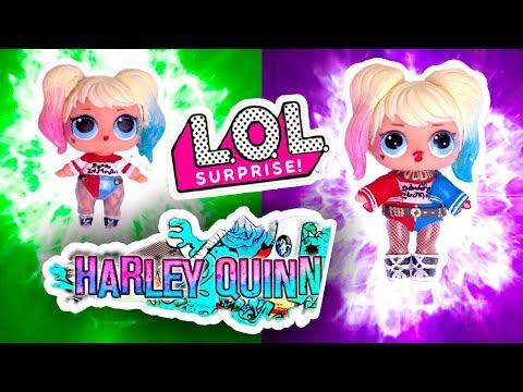 DIY Harley QUINN LOL Surprise Custom Doll | Big Sister & Lil Outrageous | Toy Tutorial |
