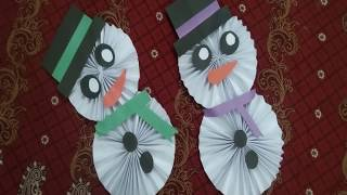 Origami Paper   Christmas Snowman with paper   DIY Christmas