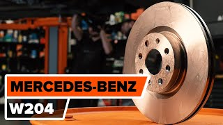 How to replace Brake pad set MERCEDES-BENZ C-CLASS (W204) Tutorial