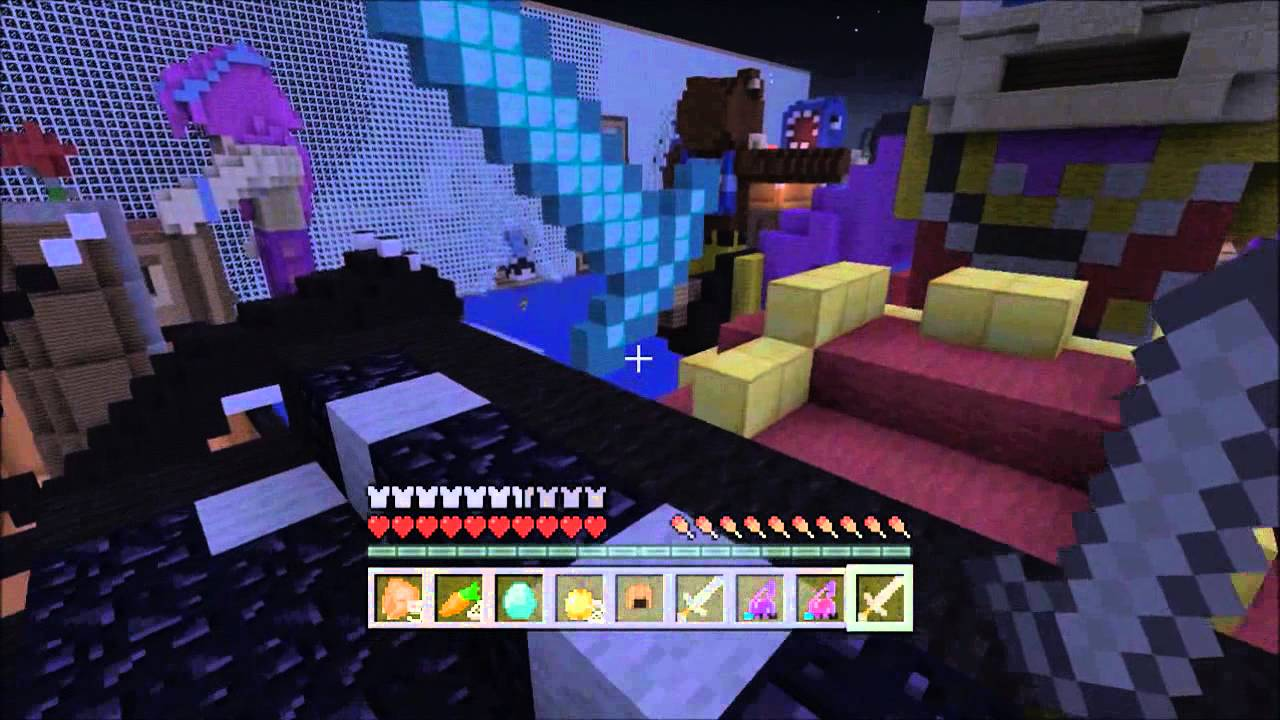 Minecraft xbox 360 Hunger Games | Stampy's Bedroom ...
