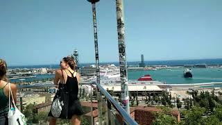 Обзорная на порт Барселоны на монтжуике