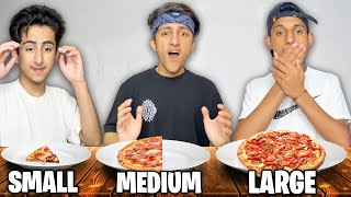 Small Medium Or Large Food Plate Challenge | Last To Stay Wins 1 Lakh Rupees 😍 - Garena Free Fire