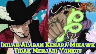 Inilah Alasan Kenapa Mihawk Tidak Menjadi Yonkou! Padahal Mampu Menyaingi Shanks! (Teori One Piece)