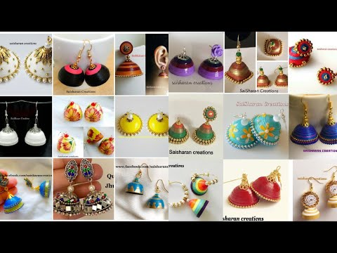 My over all Paper made jhumkas//Paper Quilling Jhumkas collection//jhumkas from 2016-2019/Handmade