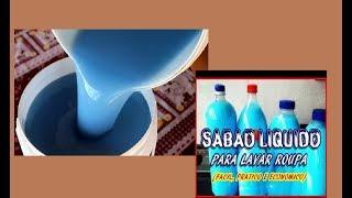 Sabão liquido tipo Omo fácil e rápido