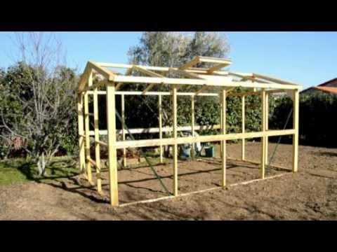 Realisez Une Serre En Bois Ultra Resistante Et Demontable De 10m Youtube