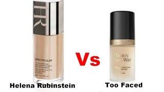 #Bitwa podkładów #Helena Rubinstain Vs #Too faced #test na żywo #recenzja