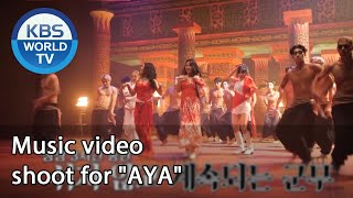 "Music video shoot for ""AYA"" (Boss in the Mirror) 