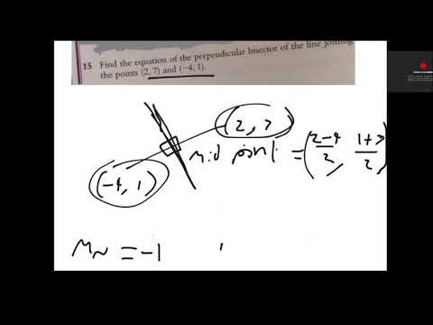 GCSE Maths - Straight lines and perpendicular lines (y=mx+c) (CCEA M3, M4,  M7, M8)