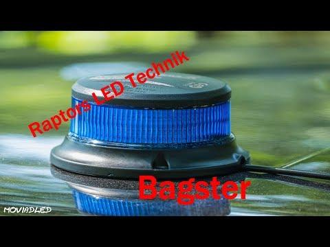 Raptors LED Technik LED Magnet Kennleuchte Bagster Blau Gelb