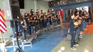 "Gillette Elementary School choir performing ""Uptown Funk"""