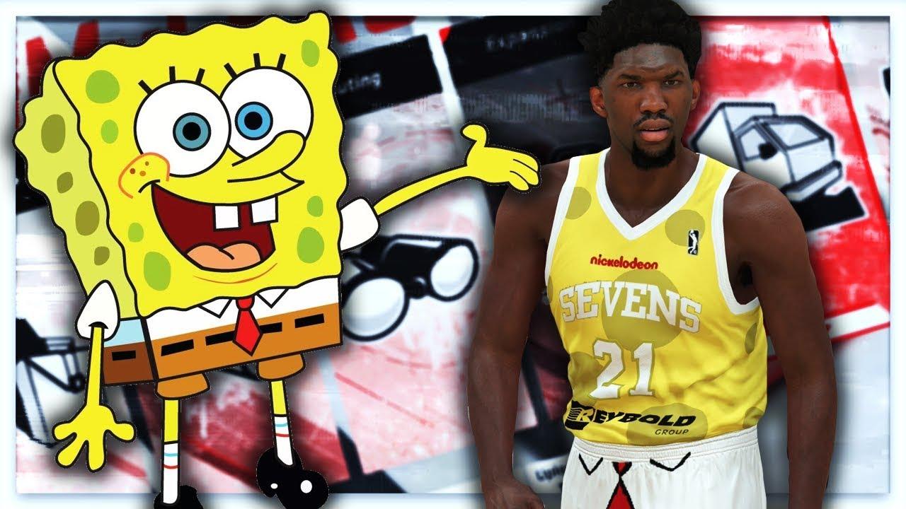 9ea0625feeab NBA 2K18 - 76ers G League Spongebob Squarepants Jersey Tutorial (Delaware  87ers)