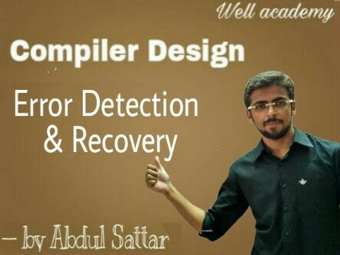 Compiler Design Lecture  - -  Error Detection and Recovery ( Eng-Hindi )