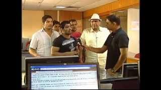 Wrestler Sushil kumar visited DD News Newsroom Part 1