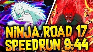 Ninja Road 17 Speedrun 9:44 (Under 100 Turns - ONE Team ONLY)【Naruto Blazing】