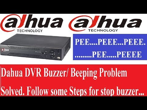 How to Solved Dahua DVR Beeping Problem! - YouTube