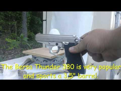 .380 Federal 95 Grain FMJ - Bersa Thunder Vs Ballistics Skull - Penetration Test