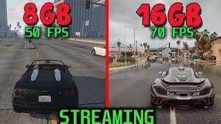 8gb VS 16gb GAMING y STREAMING ¿Hay diferencia?