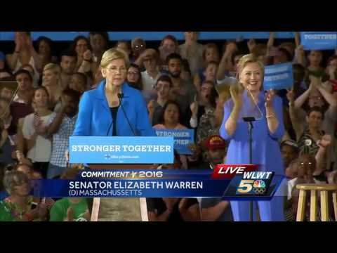 Full rally: Clinton, Warren campaign in Cincinnati