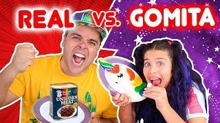 GOMITA vs COMIDA REAL ft OSO 🐻 |  COMI CARNE DE UNICORNIO | Leyla Star 💫