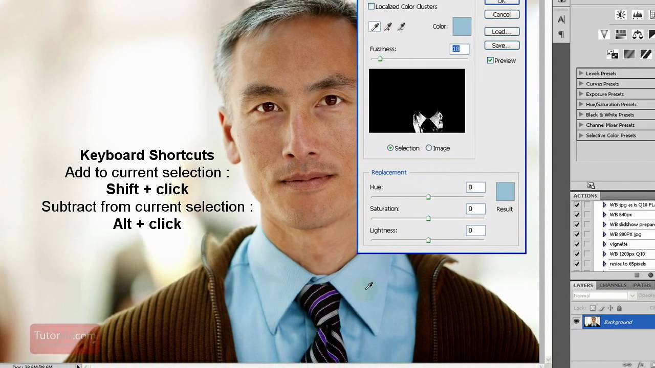 Photoshop cs4 tutorial how to replace a color beginner youtube baditri Image collections