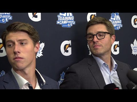 Mitch Marner and Kyle Dubas Scrum - September 14th, 2019
