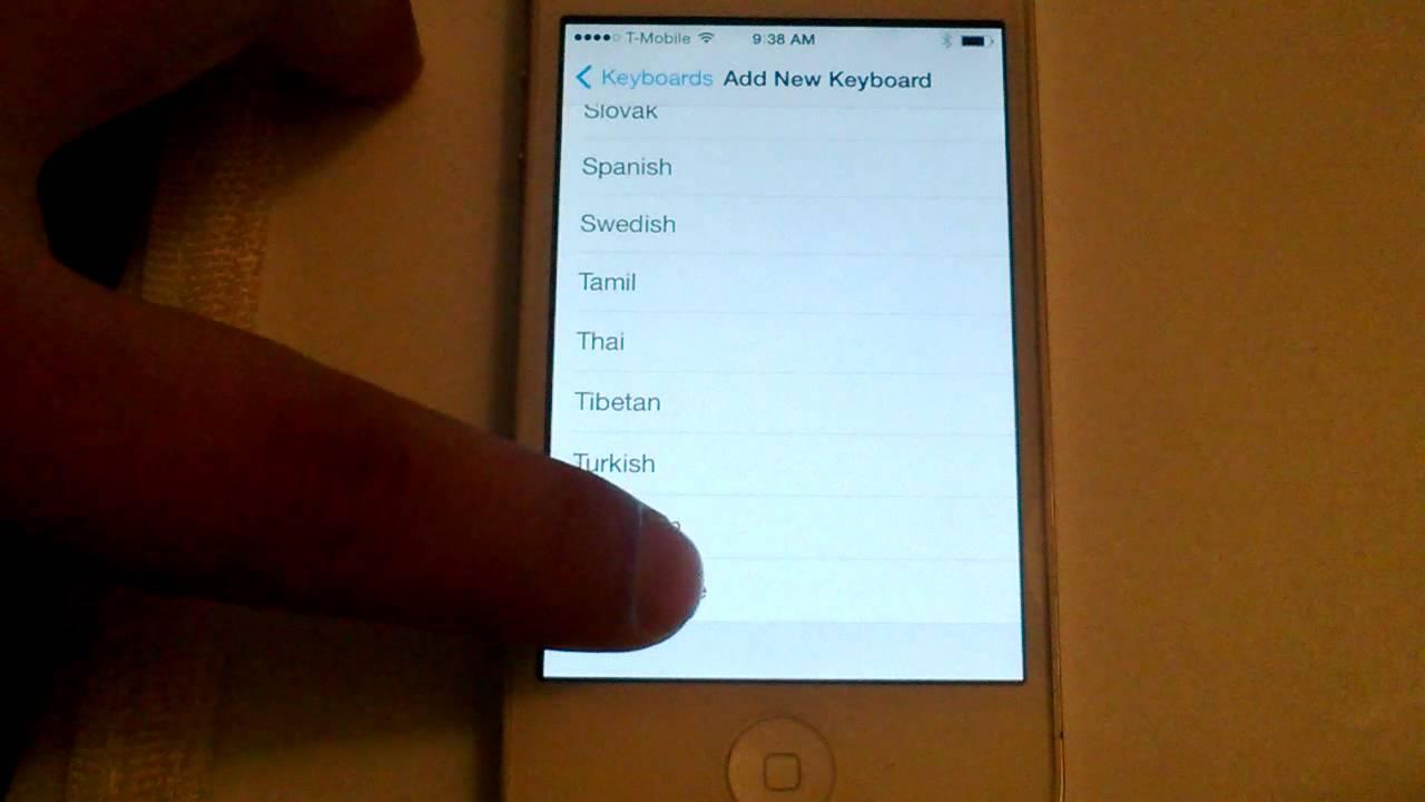 Adding Vietnamese Language Keyboard to my Iphone 4s running iOS 7.  Same as iOS 6.