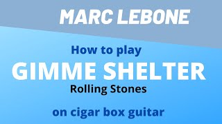 How to play Gimme Shelter   Rolling Stones