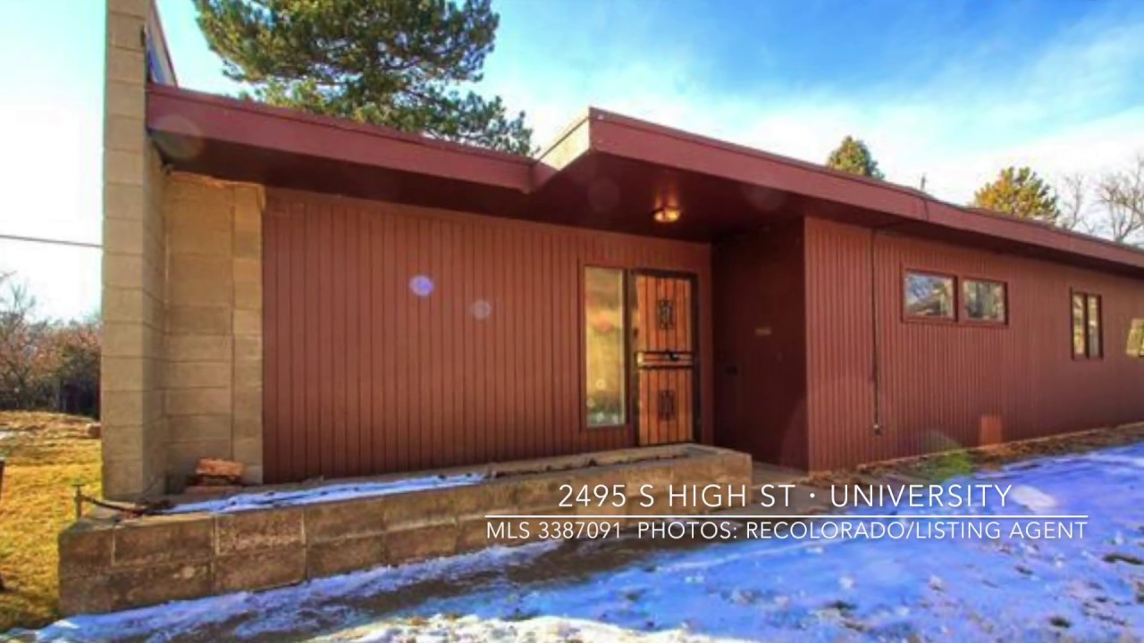 2495 s high st denver mid century modern home tour youtube for Mid century modern homes denver