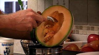 The Quick and Easy Way to Cut Up a Cantaloupe