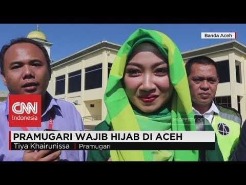 Pramugari Wajib Mengenakan Hijab di Aceh