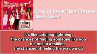 04 Can I Have This Dance (Official Karaoke / Instrumental) with Lyrics on Screen
