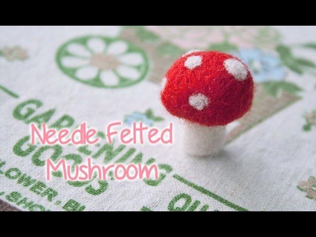 Woolen Mushroom Home decoration Needle Felting Mushroom Felted Mushroom Woolen felt Mushroom| Wool felted mushroom Fairytale