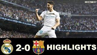Video Real Madrid Vs Barcelona  All Goals & Highlights - Spanish Super Cup 17 August 2017 HD download MP3, 3GP, MP4, WEBM, AVI, FLV Juli 2018
