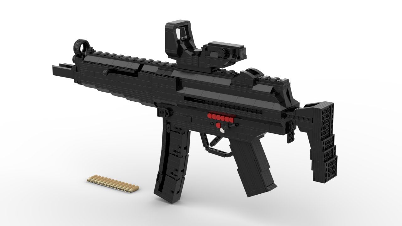 Lego: Shell Ejecting MP5 Instructions (Working)